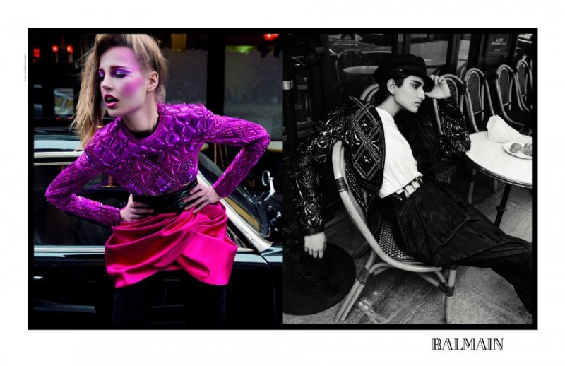 balmain fall ads2 800x518 Balmain Taps Eclectic Cast for Fall 2013 Campaign by Inez & Vinoodh