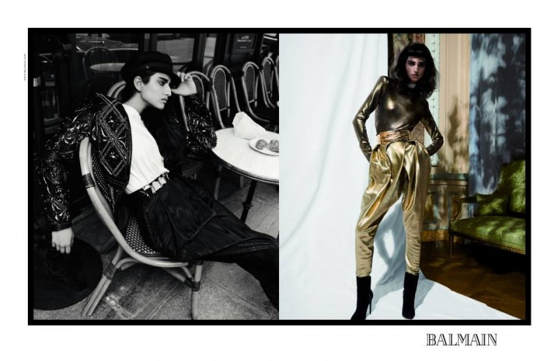balmain fall ads4 800x518 Balmain Taps Eclectic Cast for Fall 2013 Campaign by Inez & Vinoodh