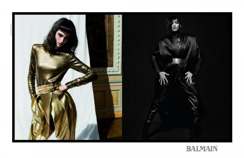 balmain fall ads5 800x518 Balmain Taps Eclectic Cast for Fall 2013 Campaign by Inez & Vinoodh