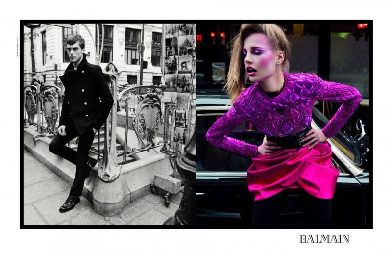 balmain fall ads6 800x518 Balmain Taps Eclectic Cast for Fall 2013 Campaign by Inez & Vinoodh