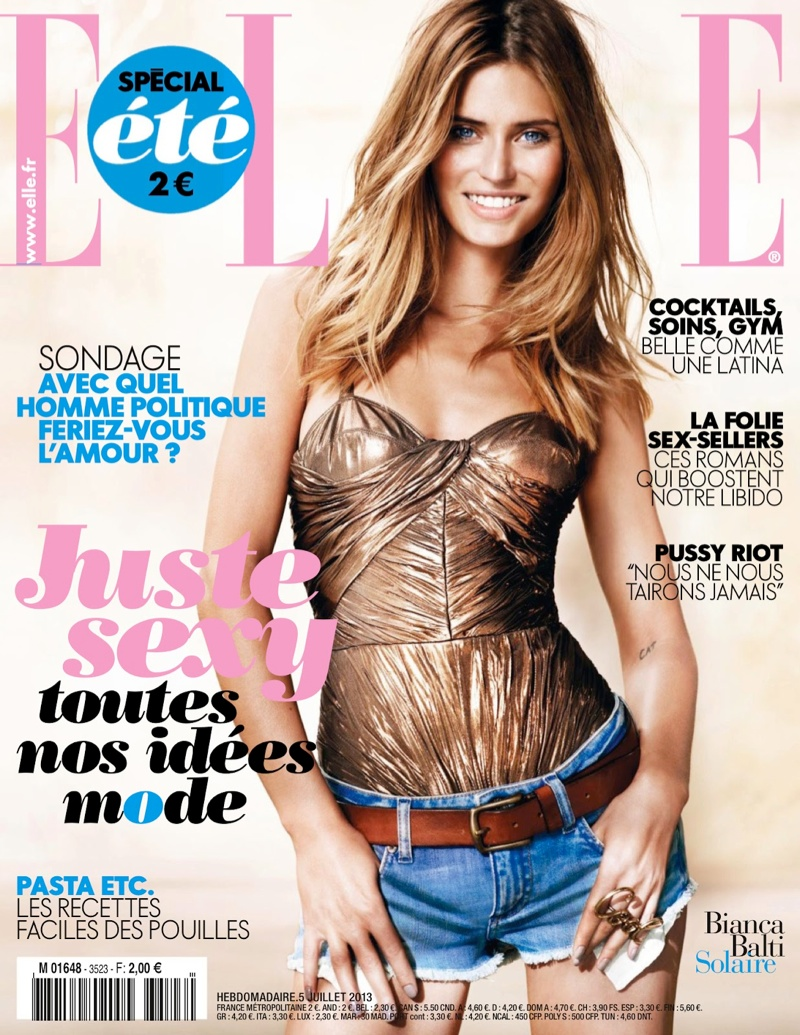 bianca balti model15 Bianca Balti Shines in the July Cover Shoot of Elle France