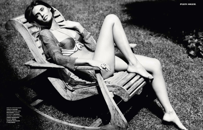 bianca balti model8 Bianca Balti Shines in the July Cover Shoot of Elle France