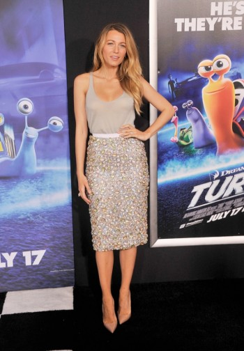 "Blake Lively Wears Burberry to the ""Turbo"" NYC Premiere"