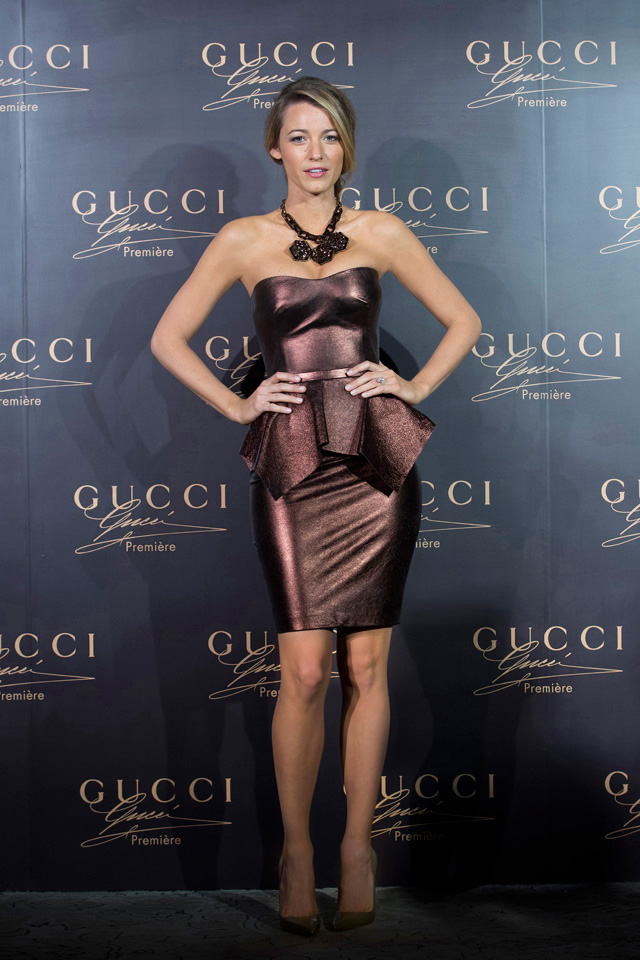 blake lively gucci0 Blake Lively Shines in Gucci at the Première Fragrance Launch in China