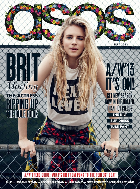 brit marling actress6 Brit Marling Stars in ASOS Magazines September 2013 Issue