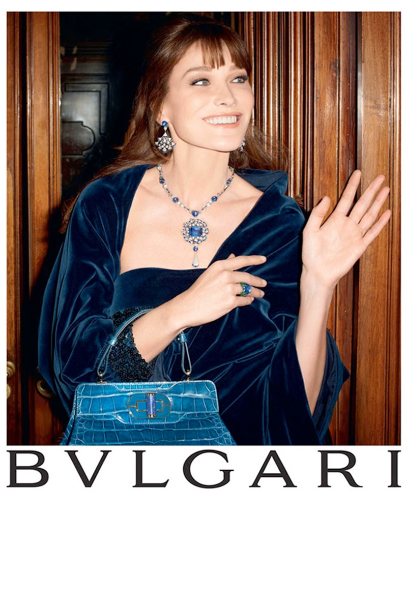 bulgari carla bruni1 Carla Bruni Returns to Modeling for Bulgari Diva Campaign by Terry Richardson