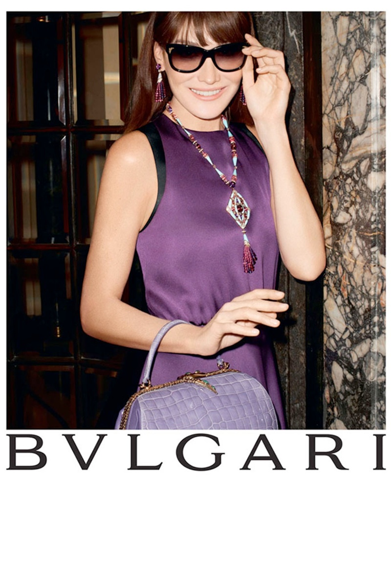 Carla Bruni Returns to Modeling for Bulgari 'Diva' Campaign by Terry Richardson