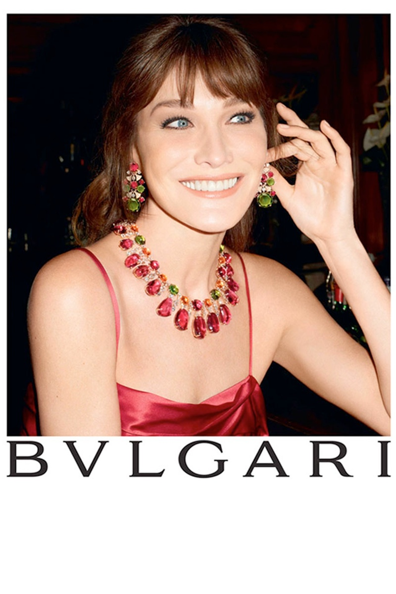 bulgari carla bruni3 Carla Bruni Returns to Modeling for Bulgari Diva Campaign by Terry Richardson