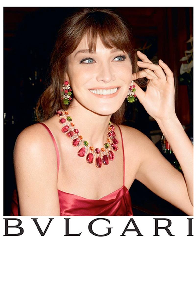 Carla Bruni Returns To Modeling For Bulgari Diva