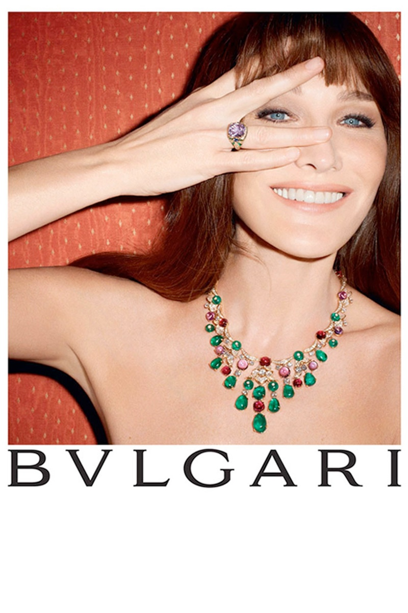 bulgari carla bruni4 Carla Bruni Returns to Modeling for Bulgari Diva Campaign by Terry Richardson