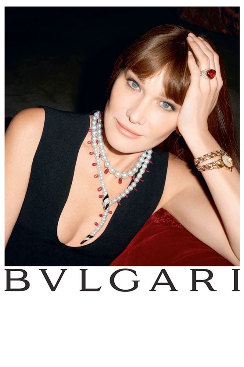 bulgari carla bruni5 Carla Bruni Returns to Modeling for Bulgari Diva Campaign by Terry Richardson