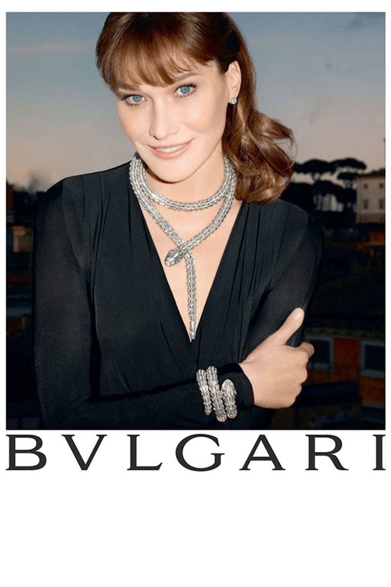 bulgari carla bruni6 Carla Bruni Returns to Modeling for Bulgari Diva Campaign by Terry Richardson