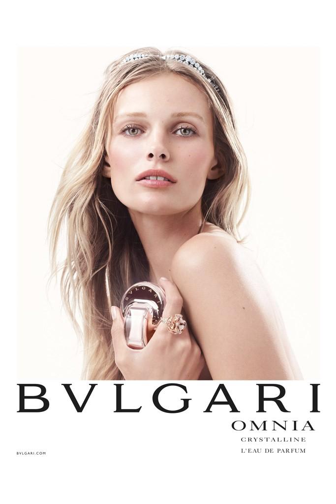 "Edita Vilkeviciute Shines in Bulgari ""Omnia Crystalline"" Fragrance Campaign"