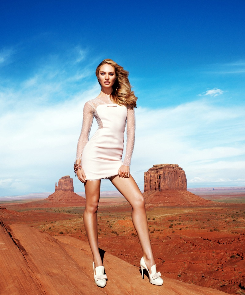 candice swanepoel terry richardson1 Candice Swanepoel Goes West for Harpers Bazaar US by Terry Richardson