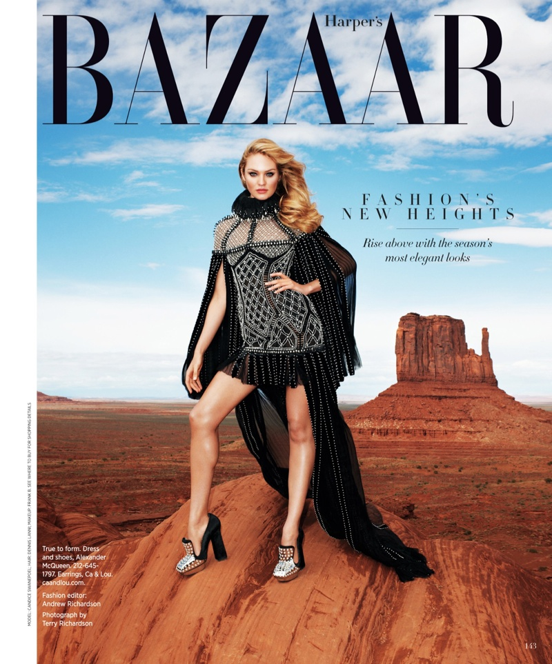candice swanepoel terry richardson11 Candice Swanepoel Goes West for Harpers Bazaar US by Terry Richardson