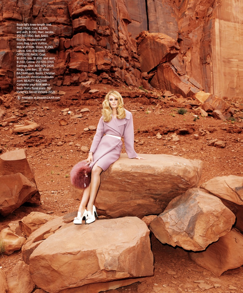 candice swanepoel terry richardson4 Candice Swanepoel Goes West for Harpers Bazaar US by Terry Richardson