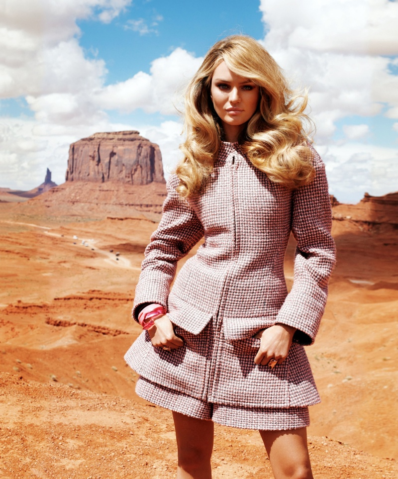 Candice Swanepoel Goes West for Harper's Bazaar US by Terry Richardson