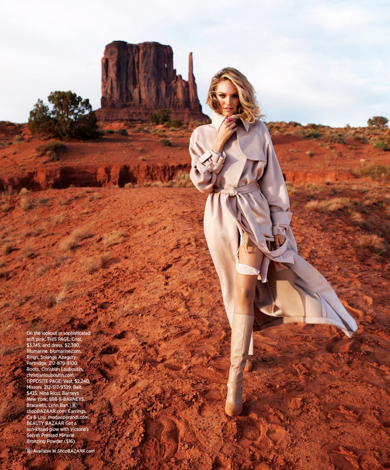 candice swanepoel terry richardson9 Candice Swanepoel Goes West for Harpers Bazaar US by Terry Richardson