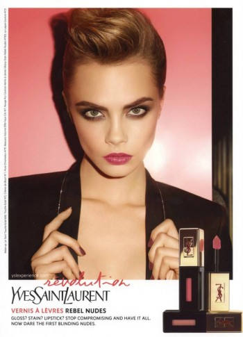 Cara Delevingne Fronts YSL Beaute's Rebel Nudes Campaign