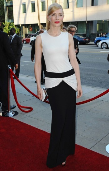 "Cate Blanchett Wears Alexander McQueen to the ""Blue Jasmine"" Premiere"