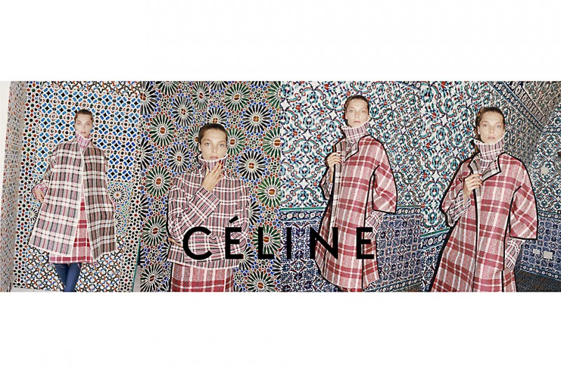 celline fall winter ads4 800x532 Daria Werbowy Lands Celine Fall 2013 Campaign by Juergen Teller