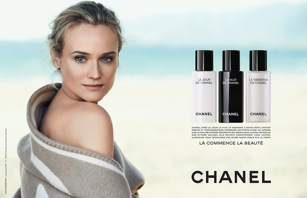 chanel beauty diane kruger See Diane Krugers Chanel Beauty Campaign by Peter Lindbergh