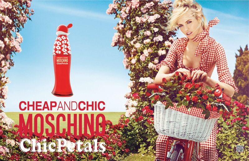 """Ginta Lapina Fronts Moschino Cheap and Chic """"Chic Petals"""" Fragrance Ad by Giampaolo Sgura"""