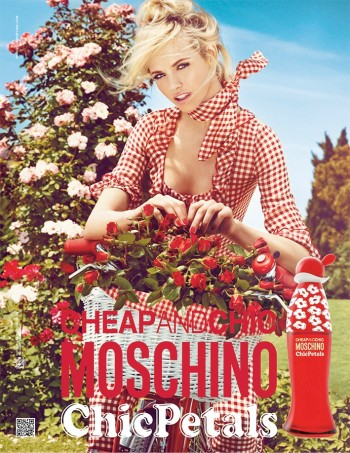 "Ginta Lapina Fronts Moschino Cheap and Chic ""Chic Petals"" Fragrance Ad by Giampaolo Sgura"