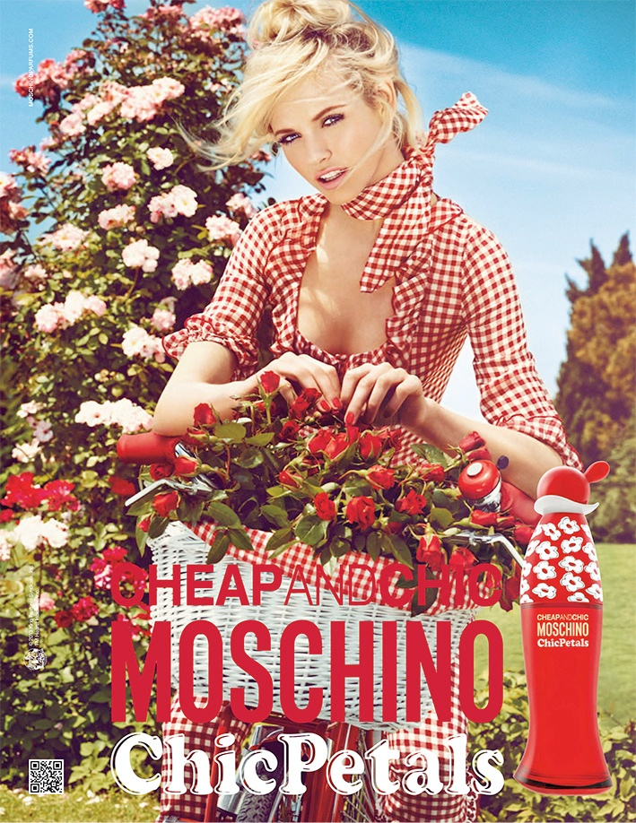 chic petals moschino2 Ginta Lapina Fronts Moschino Cheap and Chic Chic Petals Fragrance Ad by Giampaolo Sgura