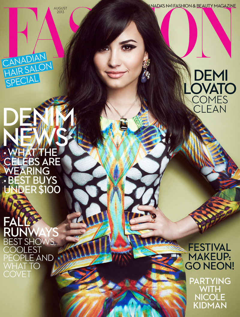 Demi Lovato Stars In Fashion Magazine's August Issue By
