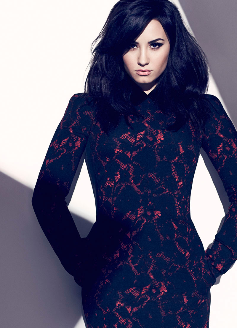 chris nicholls 2009 Demi Lovato Stars in Fashion Magazines August Issue by Chris Nicholls