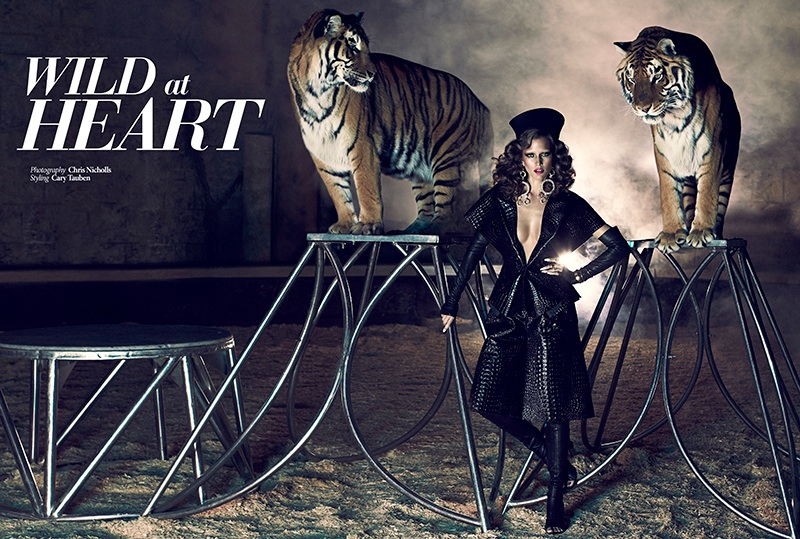 Kim Cloutier Joins the Circus for Dress to Kill Magazine by Chris Nicholls