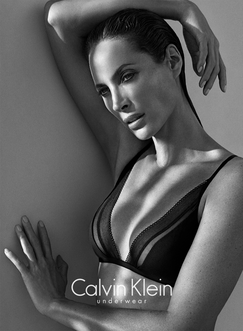christy turlington calvin klein underwear2 See Christy Turlington Star in Calvin Klein Underwear Fall 2013 Ads