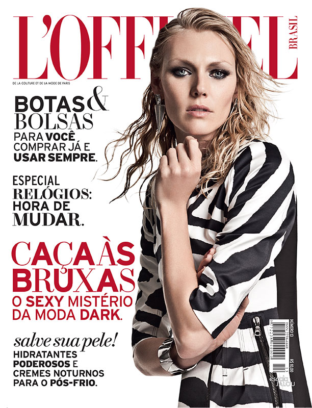 cover lofficiel brasil august 2013 Shirley Mallmann Gets Rocker Chic for LOfficiel Brazils August Issue