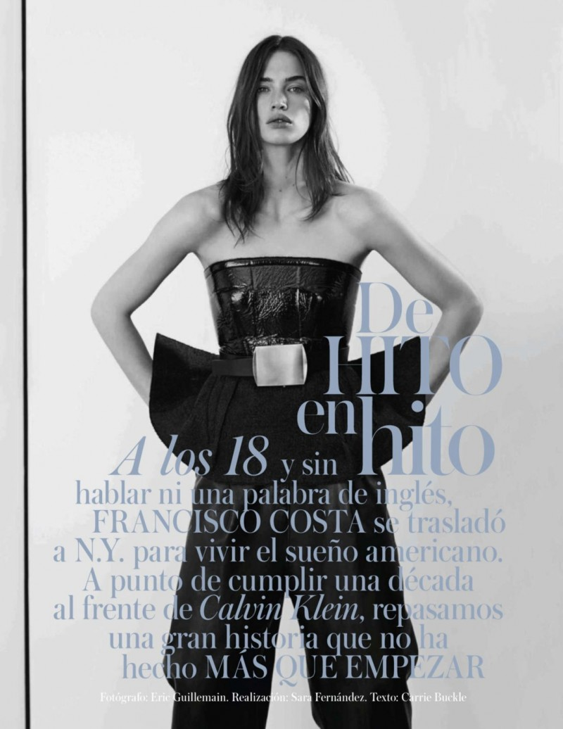 Crista Cober Dons Calvin Klein for Vogue Spain Shoot by Eric Guillemain