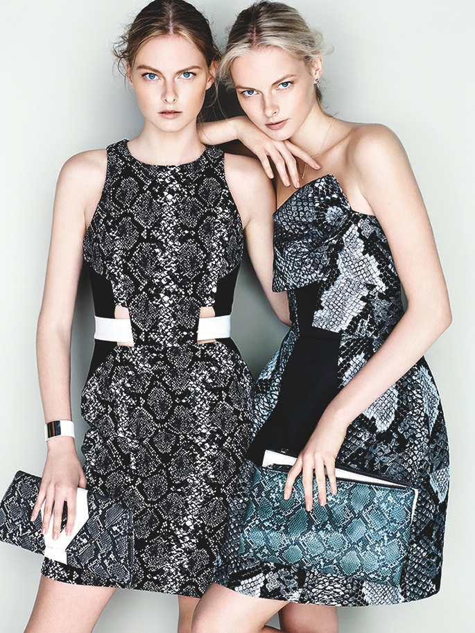 cue ss ads1 Exclusive: Sisters Elza and Vera Luijendijk Front Cue S/S 2013 Campaign