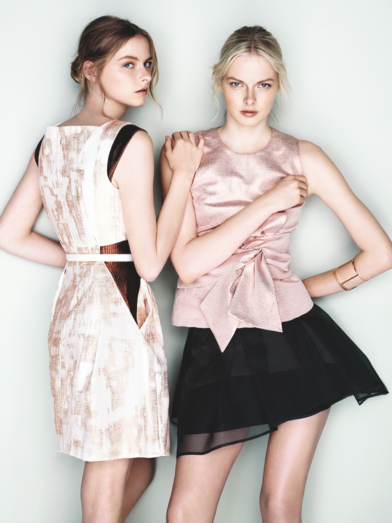 cue ss ads10 Exclusive: Sisters Elza and Vera Luijendijk Front Cue S/S 2013 Campaign