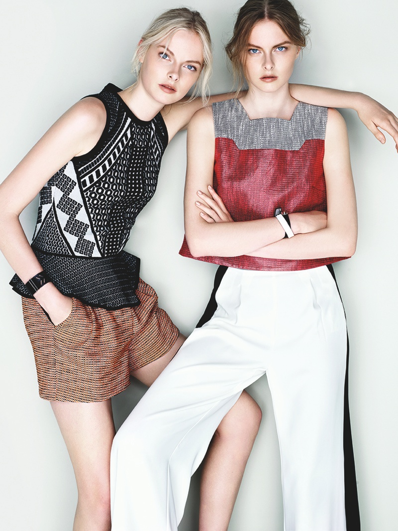 cue ss ads11 Exclusive: Sisters Elza and Vera Luijendijk Front Cue S/S 2013 Campaign