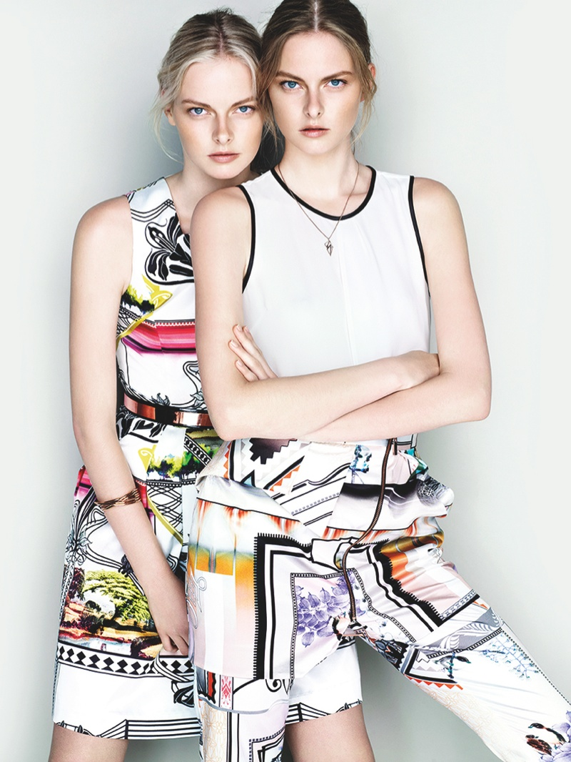 cue ss ads2 Exclusive: Sisters Elza and Vera Luijendijk Front Cue S/S 2013 Campaign