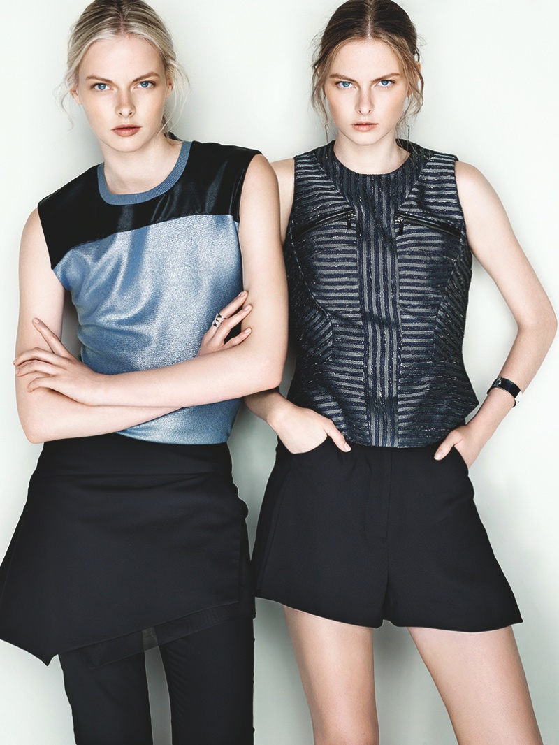 cue ss ads3 Exclusive: Sisters Elza and Vera Luijendijk Front Cue S/S 2013 Campaign