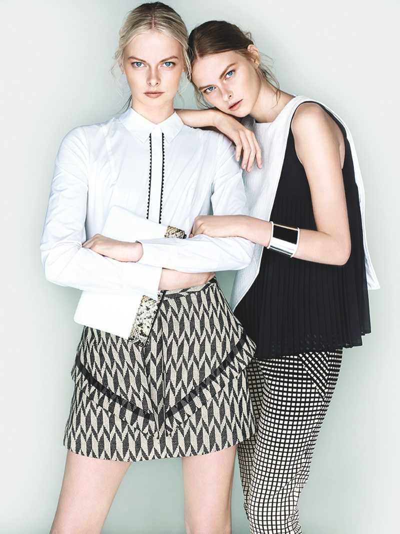 cue ss ads6 Exclusive: Sisters Elza and Vera Luijendijk Front Cue S/S 2013 Campaign