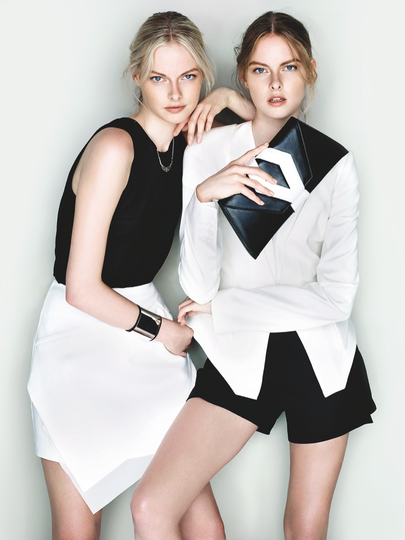 cue ss ads8 Exclusive: Sisters Elza and Vera Luijendijk Front Cue S/S 2013 Campaign