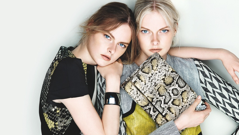 cue ss ads9 Exclusive: Sisters Elza and Vera Luijendijk Front Cue S/S 2013 Campaign