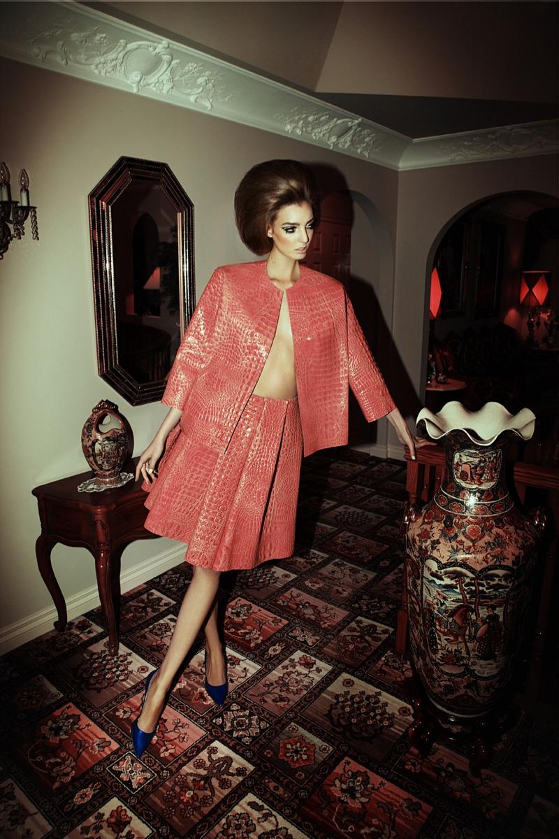Dajana Antic Plays a Desperate Housewife for Dress to Kill by Richard Bernardin