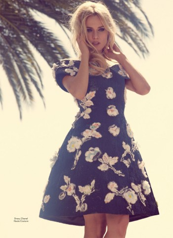 Diane Kruger is Retro Chic for Marie Claire UK August 2013 by David Roemer
