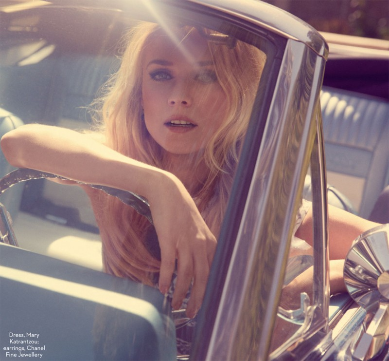 diane kruger david roemer5 800x741 Diane Kruger is Retro Chic for Marie Claire UK August 2013 by David Roemer