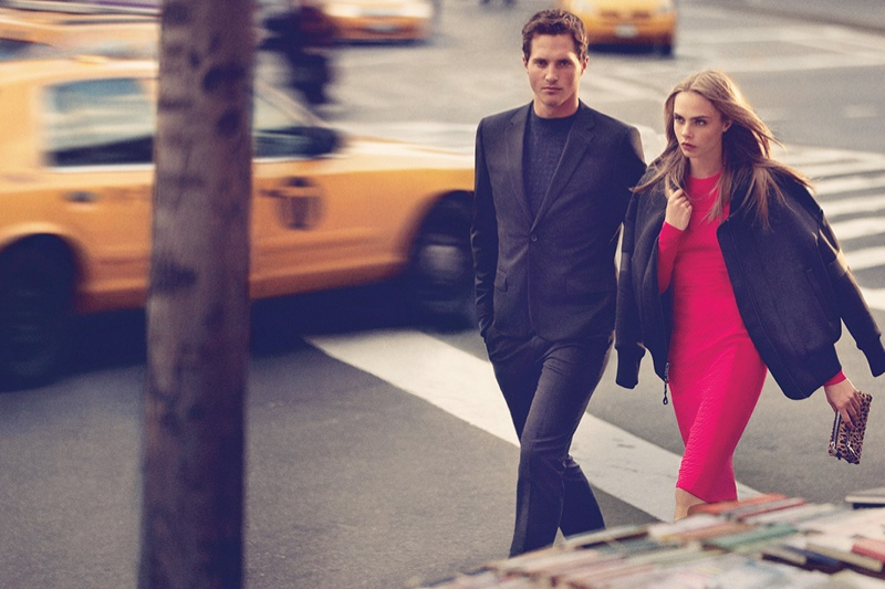 dkny fall cara ads14 Cara Delevingne Explores the City for DKNY Fall 2013 Campaign