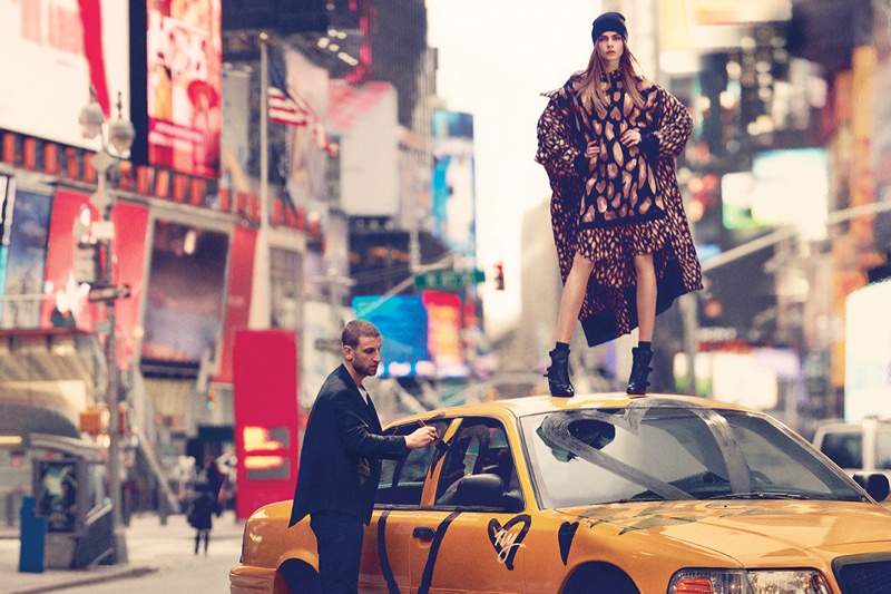 dkny fall cara ads16 Cara Delevingne Explores the City for DKNY Fall 2013 Campaign