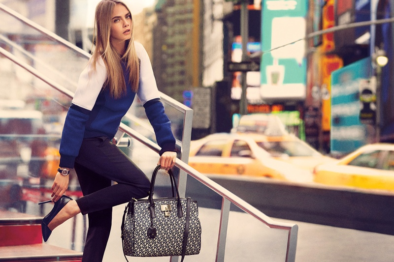dkny fall cara ads9 Cara Delevingne Explores the City for DKNY Fall 2013 Campaign
