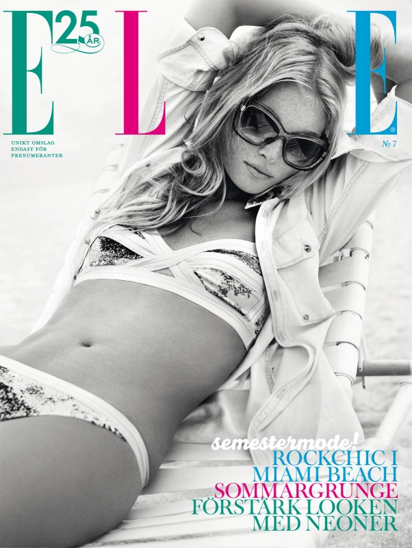 elsa hosk swim3 Elsa Hosk Soaks up the Sun for Elle Sweden July 2013